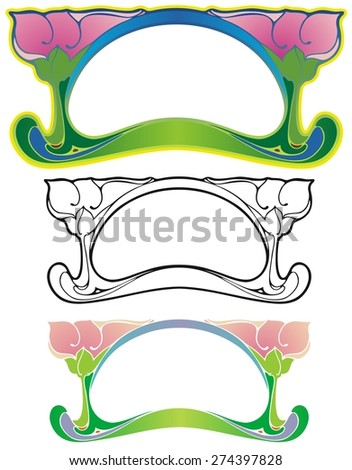 small Art Nouveau border, suitable for a label - stock vector