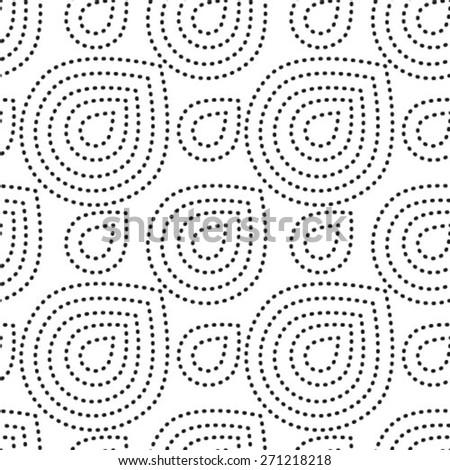 Small black dots and drops on white. Vector