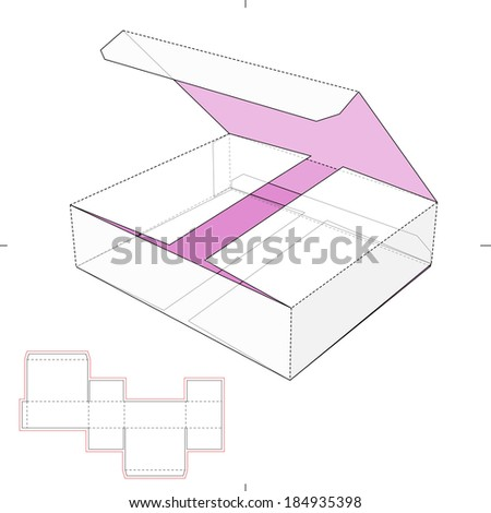 Small Box with Die-cut Pattner - stock vector