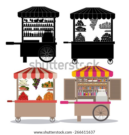 Small business design over white background, vector illustration