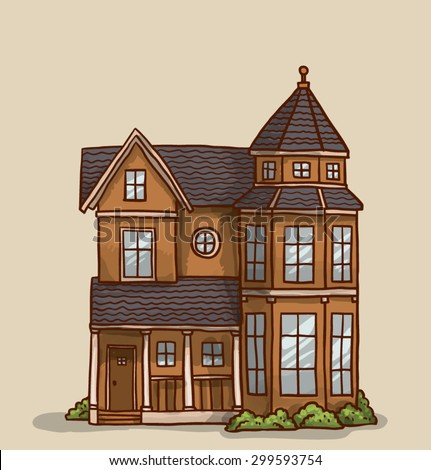 Astonishing Small Cute House Vector Stock Vector 299593790 Shutterstock Largest Home Design Picture Inspirations Pitcheantrous