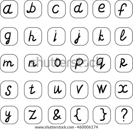 English small letters