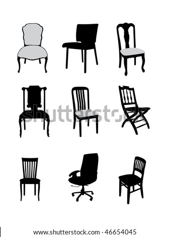 small furniture collection vector illustration for design - stock vector