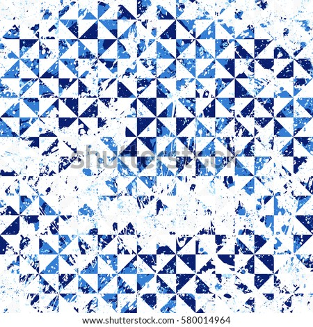 simple colorful patterns. small geometric abstract mosaic pattern with triangles and simple shapes in blue colors for fall winter colorful patterns