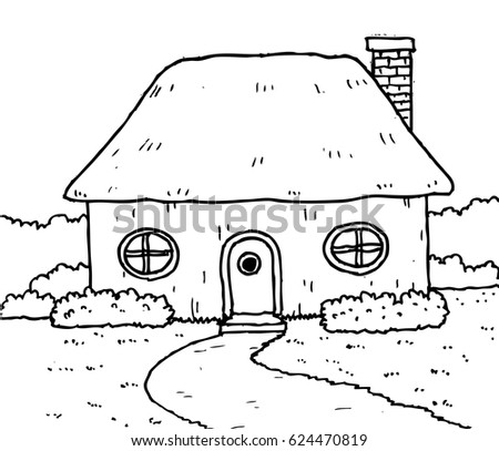 small house clipart black and white. small house in the garden cartoon clipart black and white