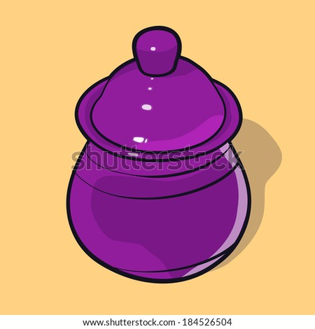 Small jar covered with lid