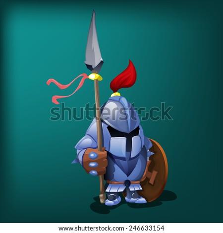 Small knight. Vector illustration. - stock vector