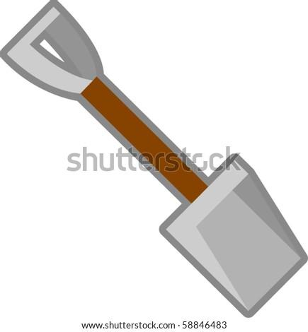 small shovel - stock vector