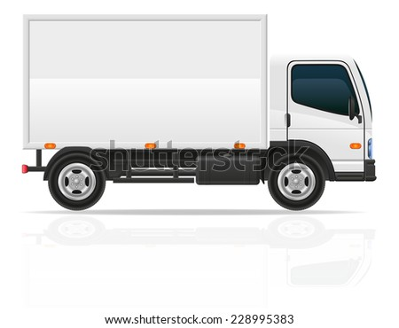 small truck for transportation cargo vector illustration isolated on white background
