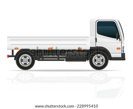 small truck for transportation cargo vector illustration isolated on white background - stock vector