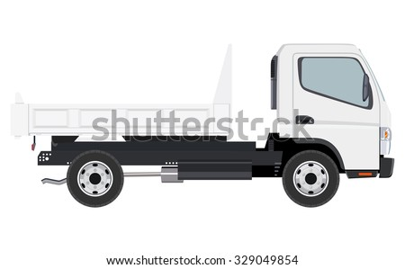 Small truck without cargo on a white background - stock vector