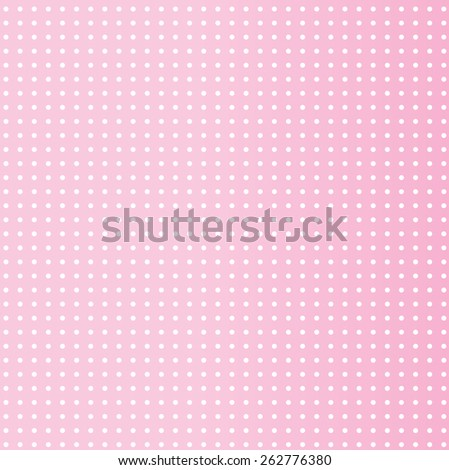 small white dots on a pink background - stock vector