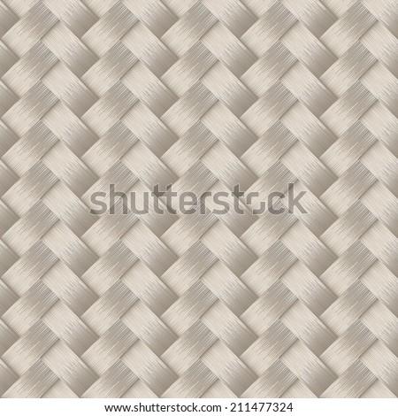 Small woven white cane fiber seamless pattern . - stock vector