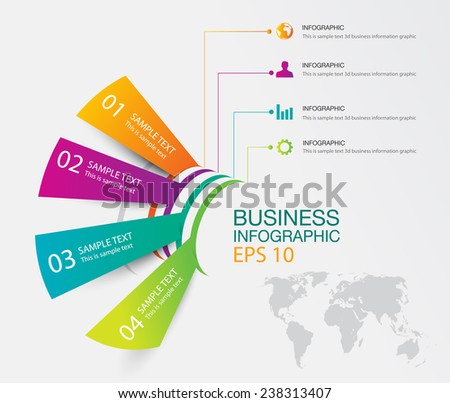 Smart business information graphic template