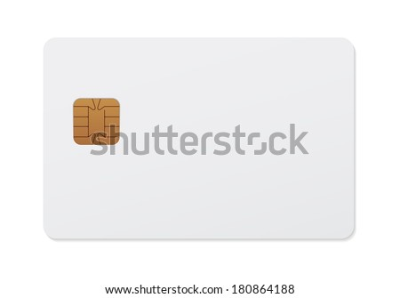 Smart card - stock vector
