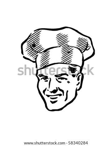 Smart Chef - Retro Clip Art - stock vector