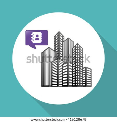 Smart city design. technology icon. multimedia concept