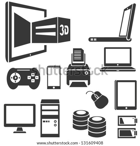 smart device and media set - stock vector