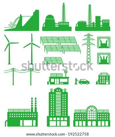 Smart grid of power  - stock vector