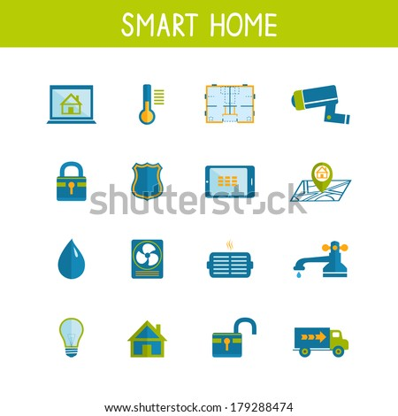 Home utilities icon stock images royalty free images vectors shutterstock - Home automation energy saving ...