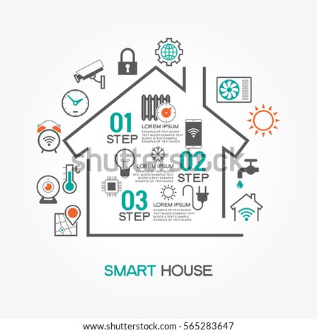 Smart house stock images royalty free images vectors for Smart home technology definition