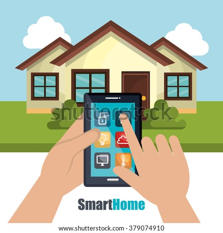 Smart Home Technology Icon Stock Vector 529367875 - Shutterstock
