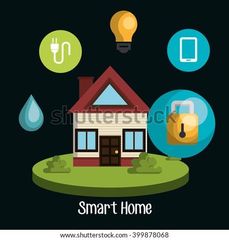 Smart Home Design Stock Vector 399878038 - Shutterstock