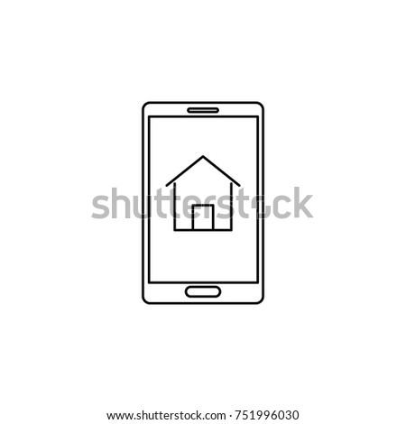 Smart Home Design Icon Real Estate Stock Vector 751996030 Shutterstock