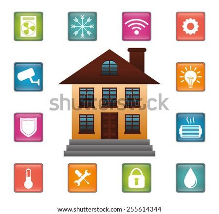 Smart Home Design Vector Illustration Eps10 Graphic