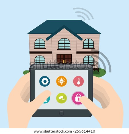 Exceptional Smart Home Design, Vector Illustration Eps10 Graphic