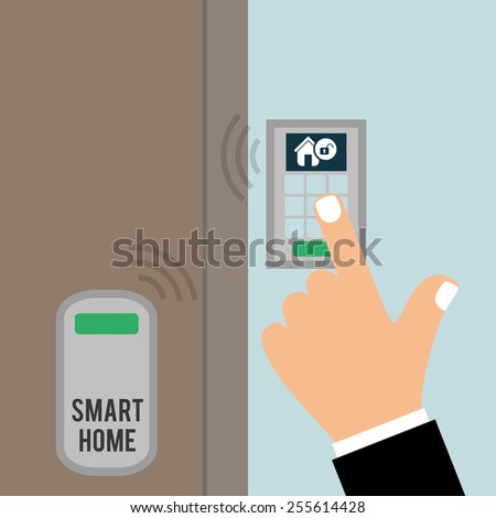 smart home design, vector illustration eps10 graphic  - stock vector
