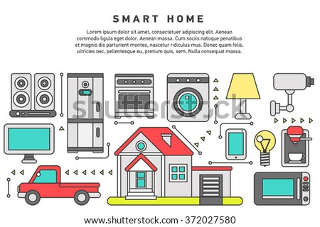 smart home iot internet things control stock vector 373982629 shutterstock. Black Bedroom Furniture Sets. Home Design Ideas
