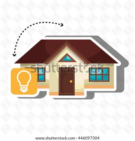 smart home with bulb isolated icon design, vector illustration  graphic