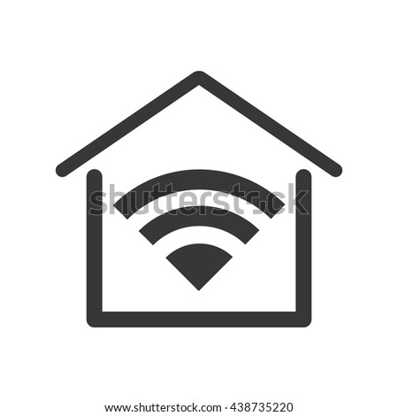 Smart House. Home and technology illustration,  isolated graphic