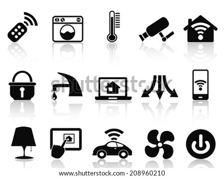 smart house icons set - stock vector