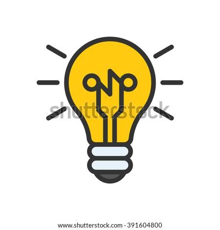 Smart ideas, vector illustration, outline stroke business icon. - stock vector