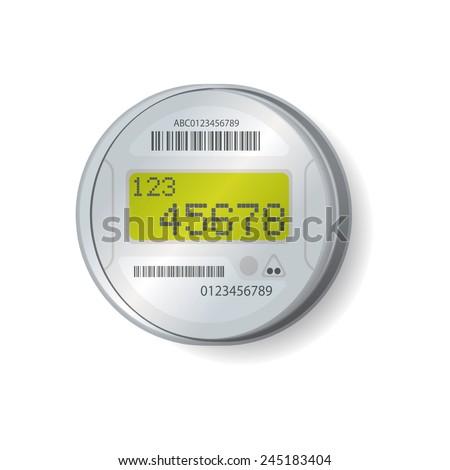 Smart Meter Illustration, Vector - stock vector