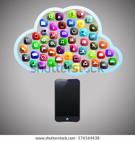 smart phone and his different opportunity in cloud shape
