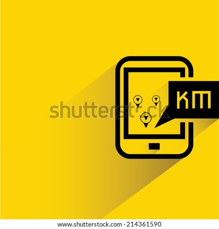 smart phone and map navigation - stock vector