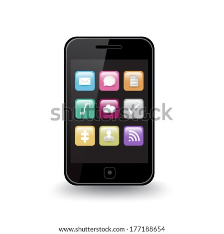 Smart Phone Apps - stock vector