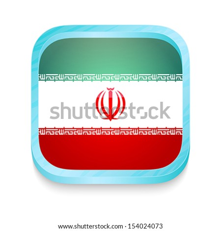 Smart phone button with Iran flag