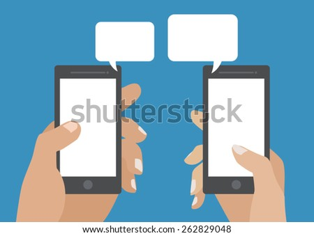 Smart Phone Chatting - stock vector