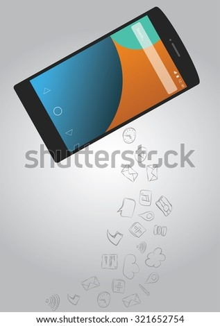 smart phone devices and communication - stock vector
