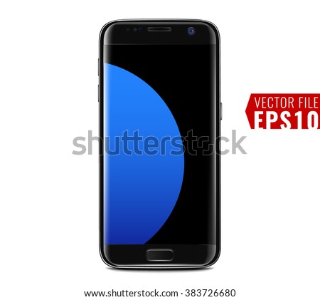 Smart phone edge design S7 - stock vector