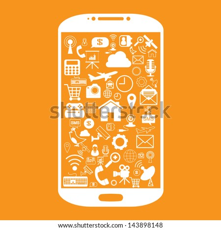 smart phone icon - stock vector