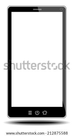 smart phone on white background from illustrator - stock vector