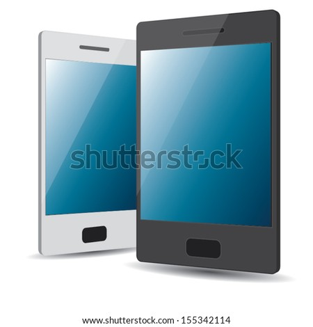 smart phone simple design. concept. vector illustration