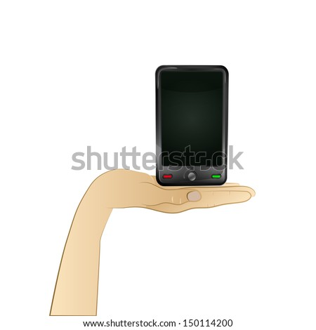 smart phone technology in your hand vector illustration