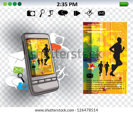 Smart phone. Vector - stock vector