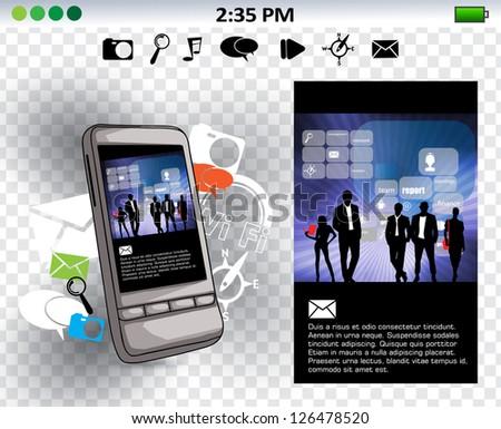 Smart phone. Vector - stock vector